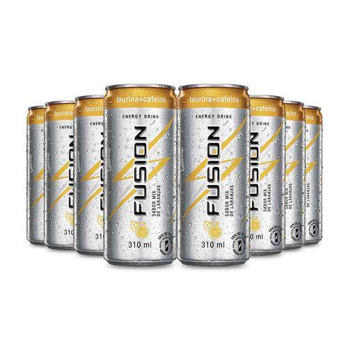 Energético Fusion Laranja 310ml - Caixa com 8 Unidade