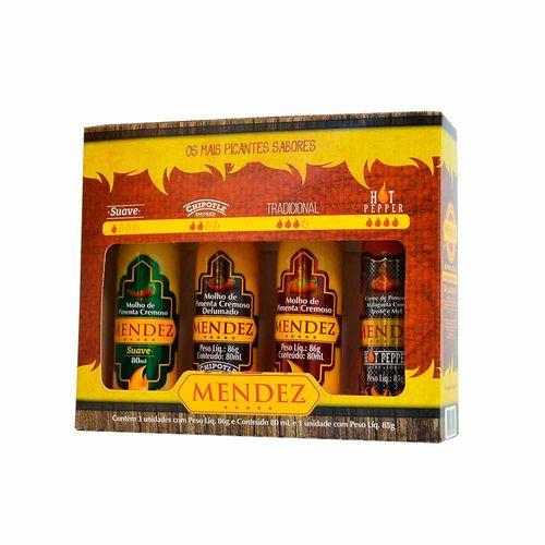 Kit Molhos de Pimentas Mendez - 4 unidades de 80ml