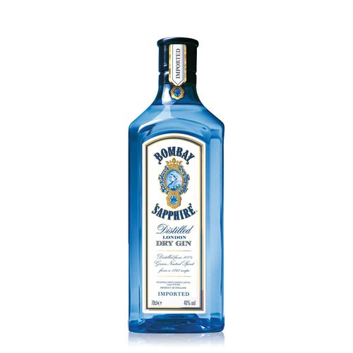 Bebida Gin Bombay Sapphire Dry London 750ml