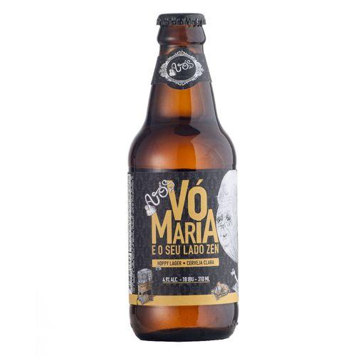 Cerveja Vó Maria e seu lado Zen 310ml