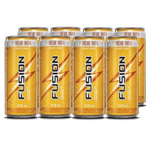 Energético Fusion Chá Preto e Lima da Pérsia 310ml - Caixa com 8 Unidades