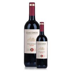 vinho-kit-tinto-italiano-brinde-garrafa-baby-pequena-taca-rosso-giacondi