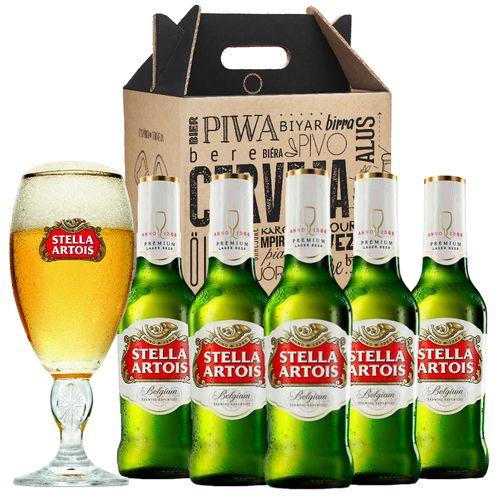 Kit Presente Dia dos Pais: Stella Artois 275ml + Cálice + Gift Box