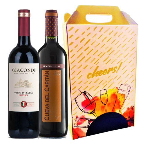 Kit Vinhos Nível Básico + Caixa para presente