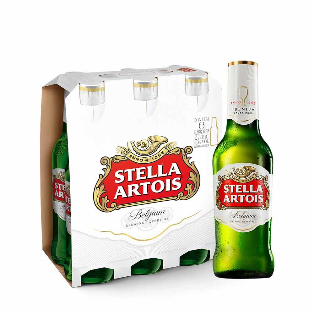 Cerveja Stella Artois 275ml Pack (6 unidades) - Empório da Cerveja 9d6d1fd14c