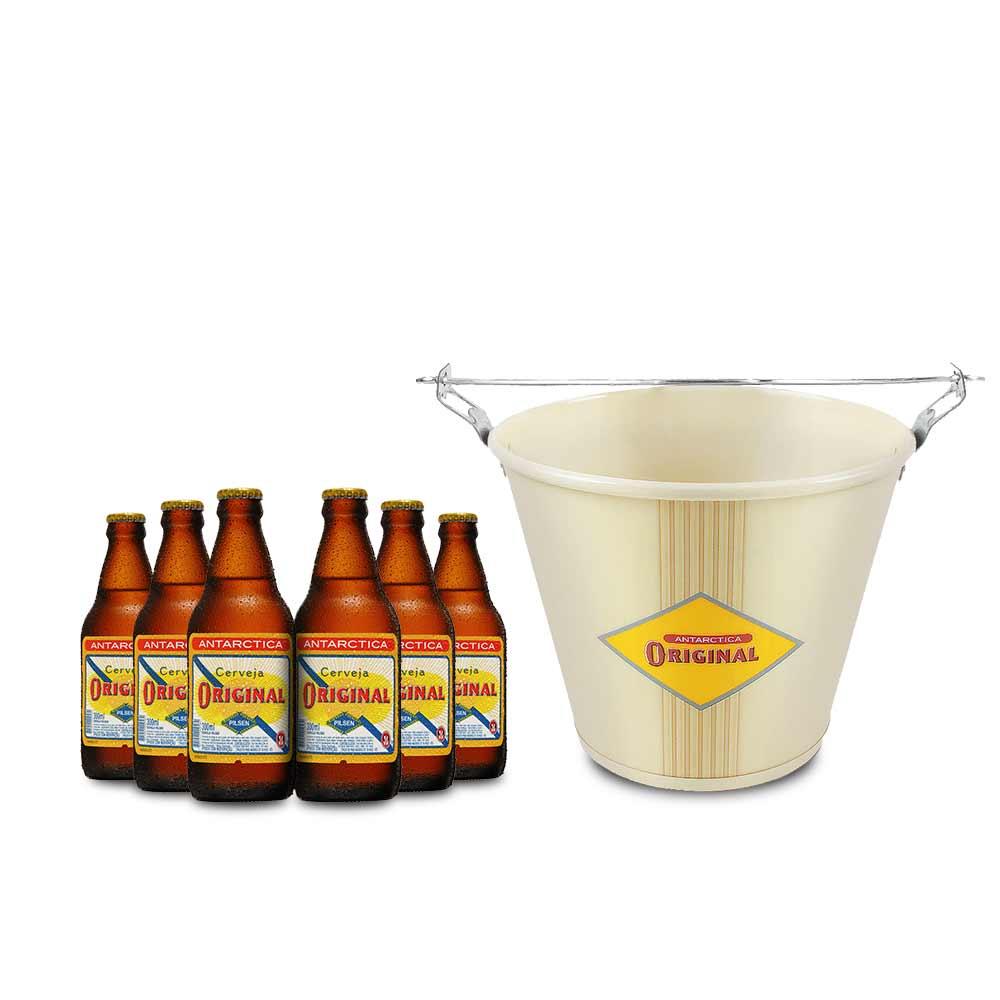 Famosos Kit Original: Balde + 6 Original 300ml - Empório da Cerveja MV71