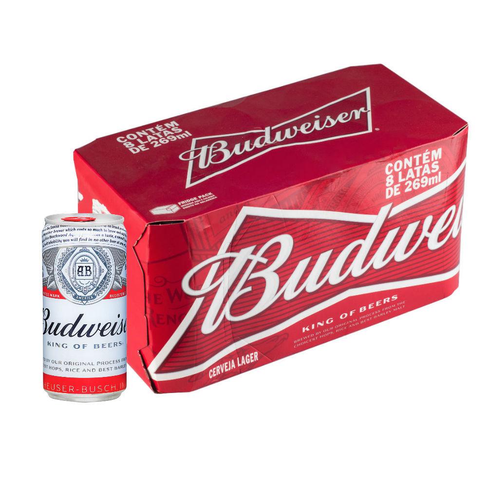 e9d69f00e7cce Cerveja Budweiser 269ml Caixa (8 Unidades) - Empório da Cerveja