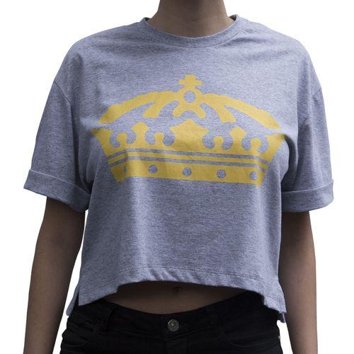 Camiseta-Cropped-Feminino-Coroa-Manga-Curta-100-Algodo-Frente