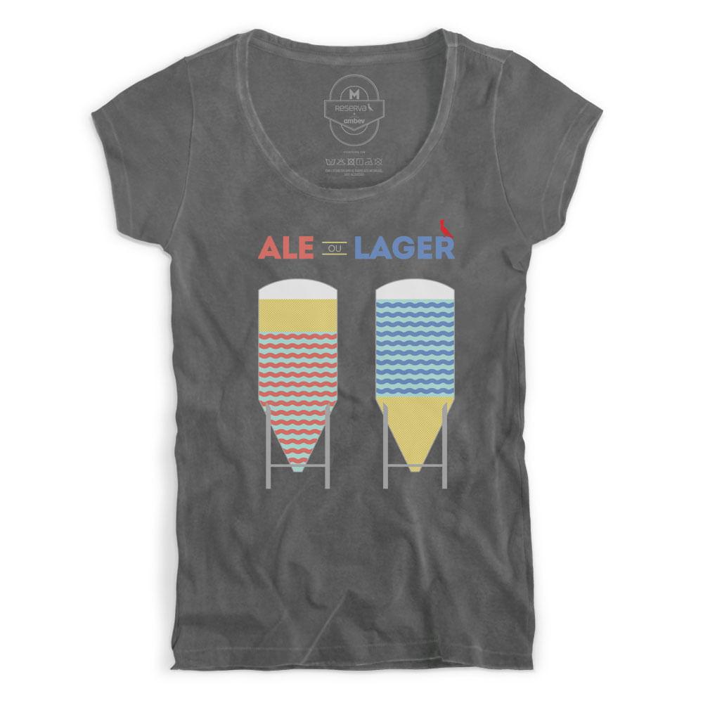 344fa61b8 Camiseta Feminina Ale ou Lager - Empório da Cerveja