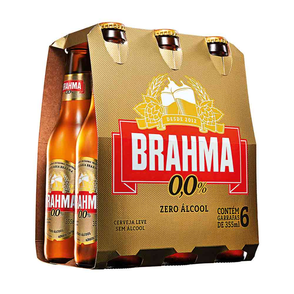 fdeb6cb331b75 Cerveja Brahma Chopp Zero 355ml Pack (6 Unidades) - Empório da Cerveja