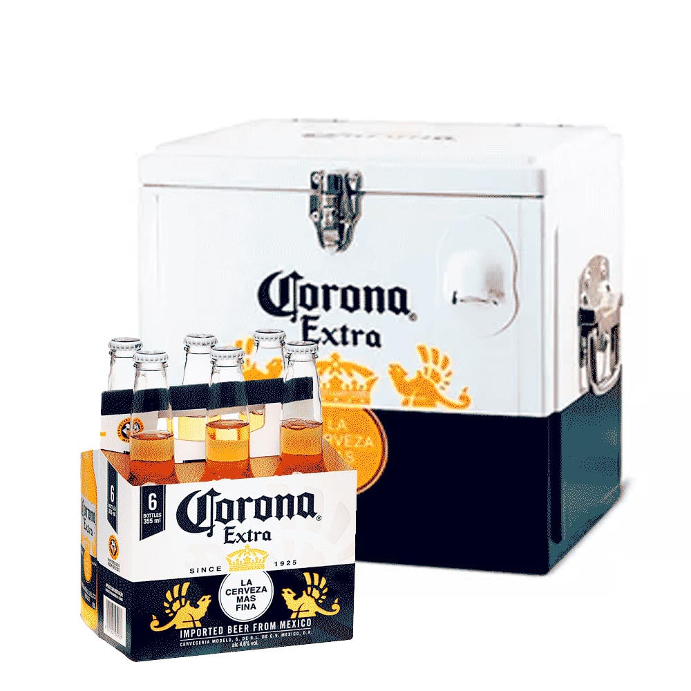 b181fb3226 Kit Corona - Cooler + Pack Corona Extra 355ml (6 Unidades) - Empório ...
