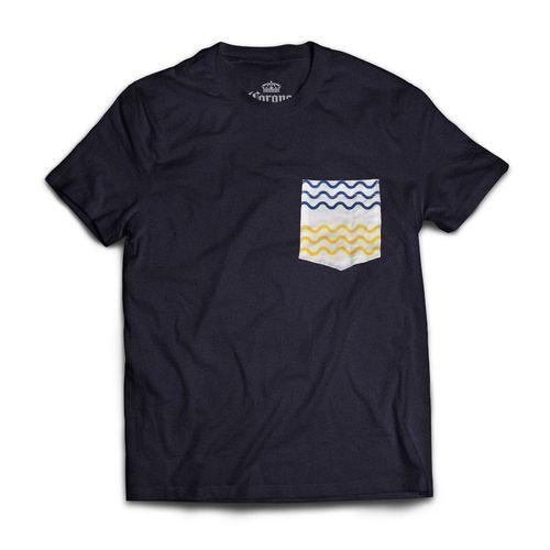 Camisa-Corona-bolso-estampado-azul