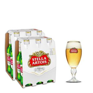 Kit-Stella-Artois-2-Packs--12-Unidades----Calice-Stella-Artois-250ml