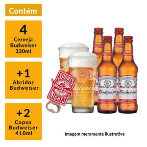 Kit-Budweiser-2-Copos-410ml---1-Abridor---4-Cervejas-330ml